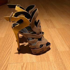 Giuseppe Zanotti 2-tone Swirl Cage Sandals